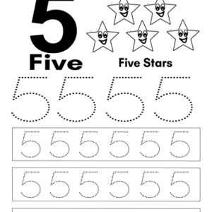 number 5 worksheet kindergarten