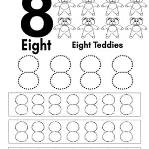 number 8 writing practice worksheet