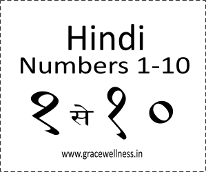 learn Hindi numbers 1-10