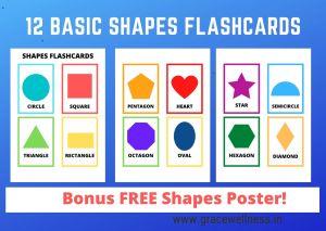basic shapes flashcards pdf