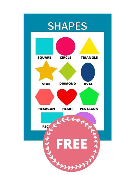 colorful shapes poster pdf