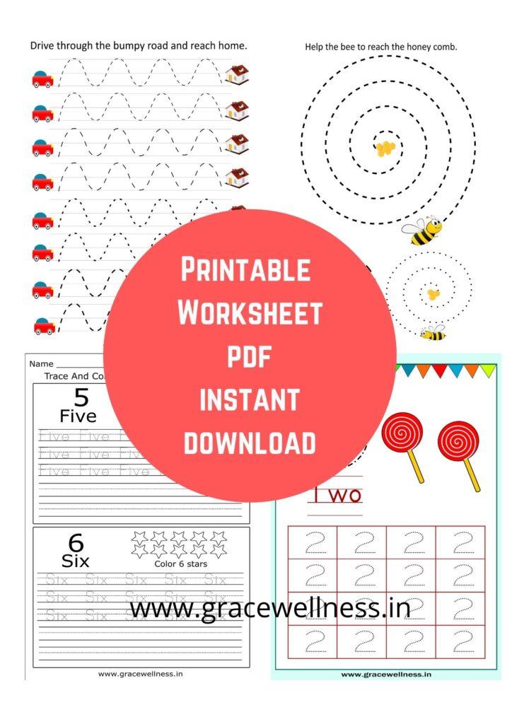 pencil control worksheets pdf kindergarten