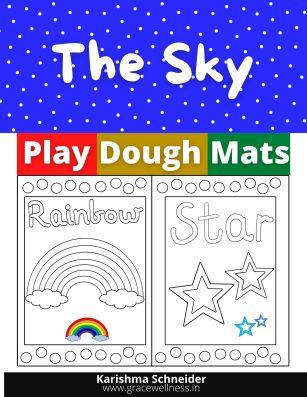 the sky printable playdough mat
