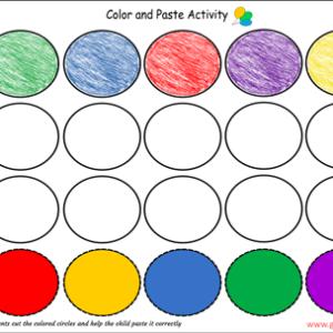 colors worksheet for nursery pdf