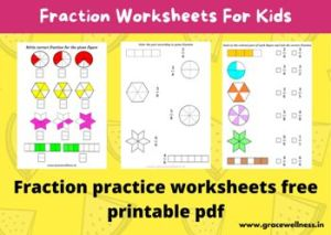 fraction worksheets for class 2