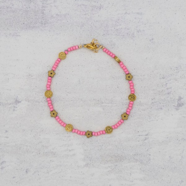 Armband - Pink Blush Flowers - GraciArt