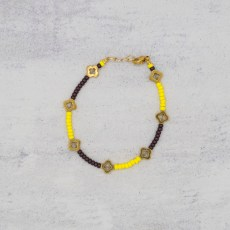 Armband - Vintage Flowers Yellow - GraciArt