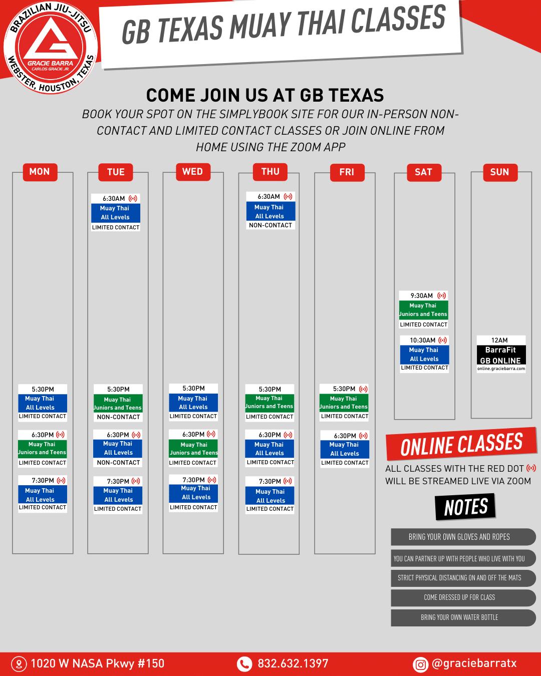 Gracie Barra Texas Current Muay Thai Schedule