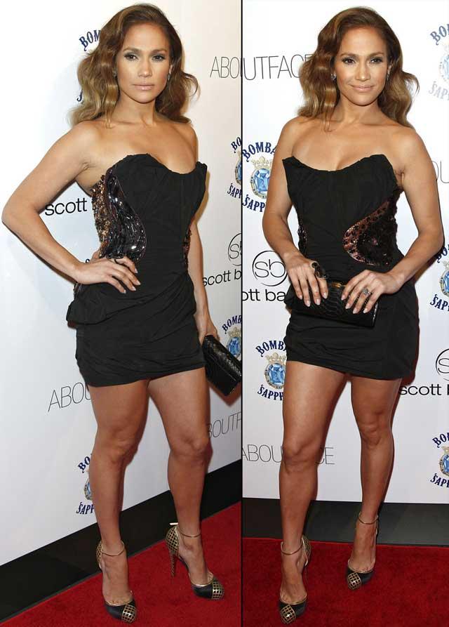 Jennifer Lopez - strapless dress