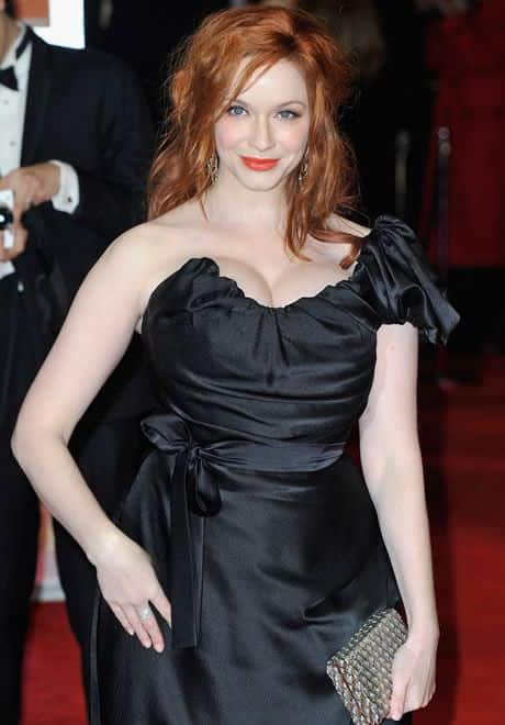 bafta-awards-2012-red-carpet,christina Hendricks