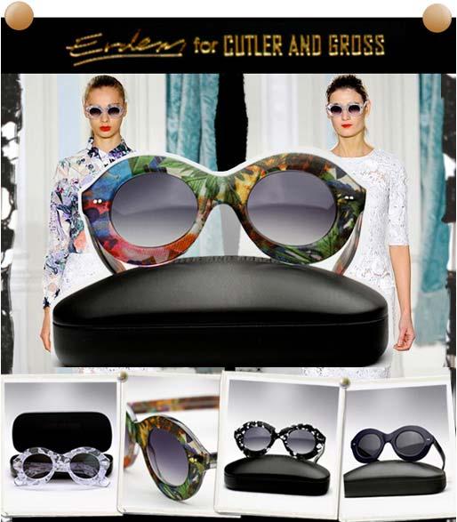 Cutler & Gross X Erdem  styles sunglasses advertising Campaign