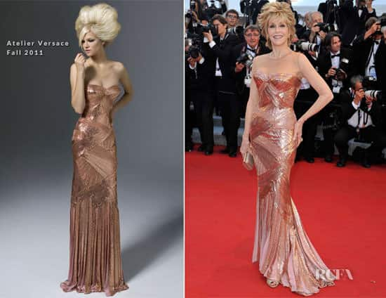 Corset dresses in Cannes