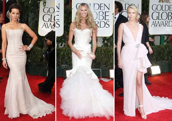 Corset Dress Gown white - golden globe