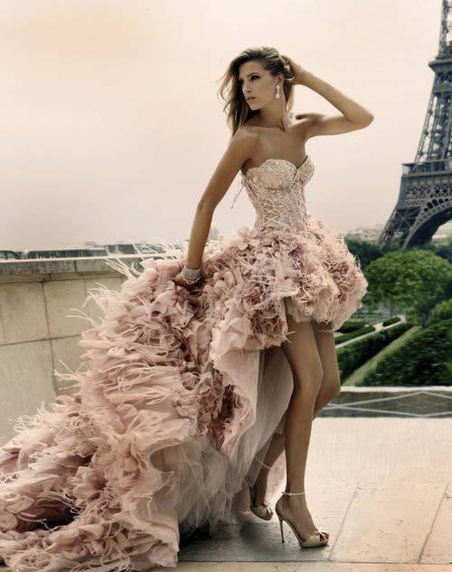 corset dresses posing in Paris