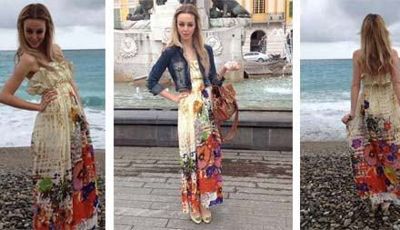 Street Fashion – Laura's Embracing The Floral Maxi Dress This 2012
