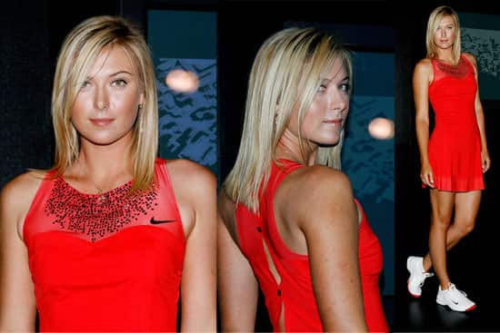 Maria Sharapova nike red tennis