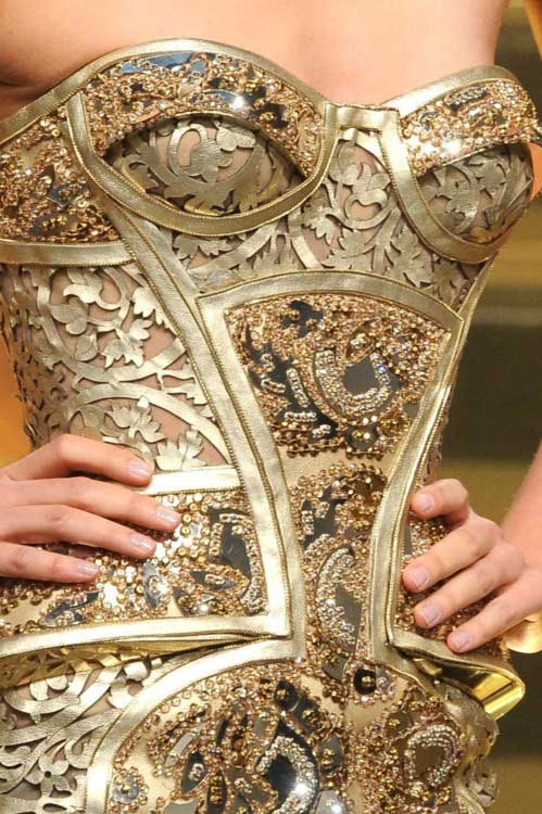 golden armor,corsets 2012