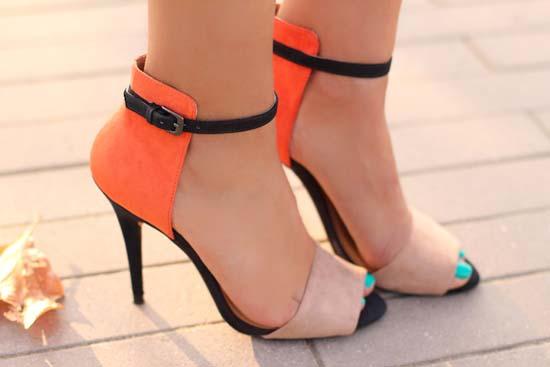 ZARA  shoes orange 2012