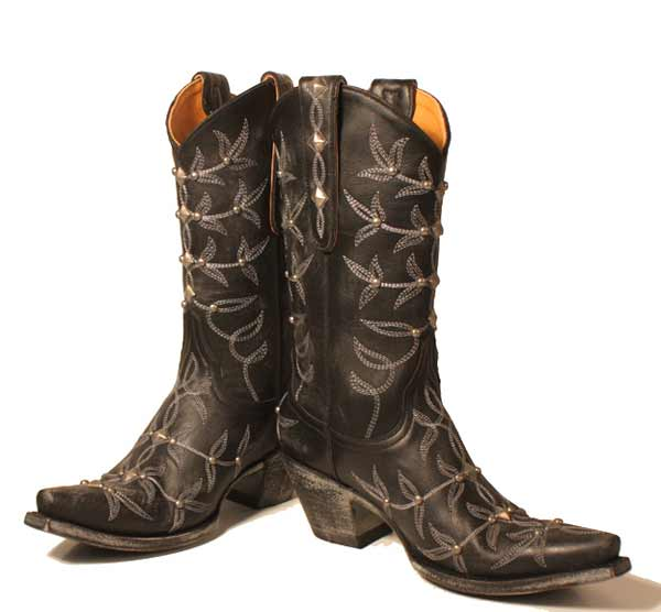 Black-polo-studded,cowboy-boots,R.Soles