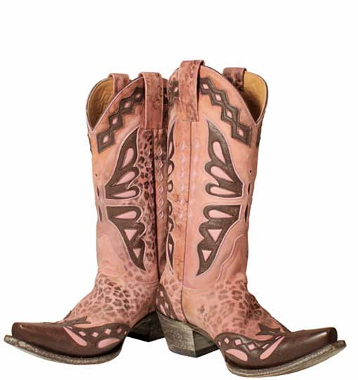 Pink Butterfly,R.Soles,cowboy boots