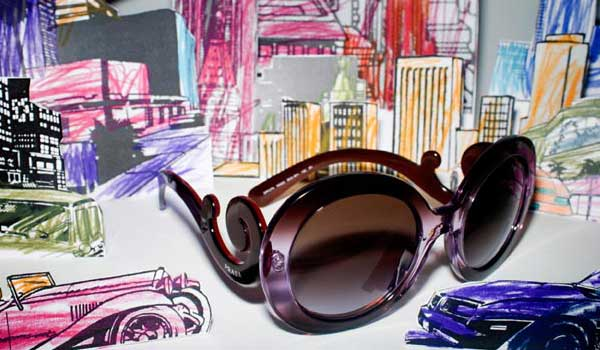 prada baroque eyewear 2012 black