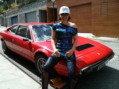 Gracie-Opulanza---Red-Ferrari-Dino-308-MenStyleFashion-REd