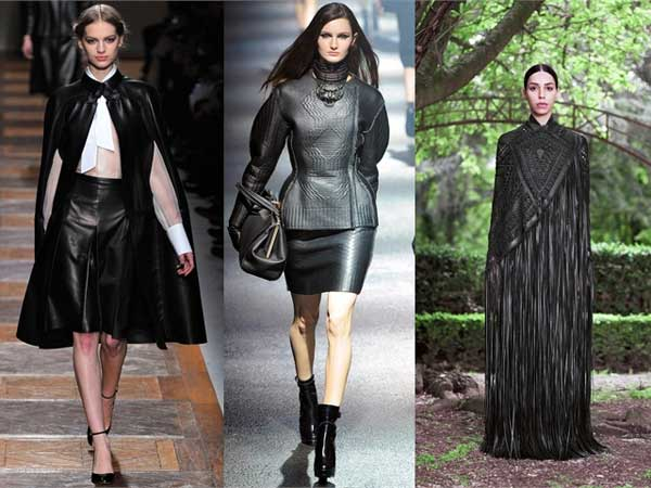 Valentino---Lanvin---Givenchy,-leather-dresses