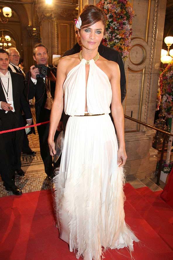 helen christensen, white gown worn at opera 2012