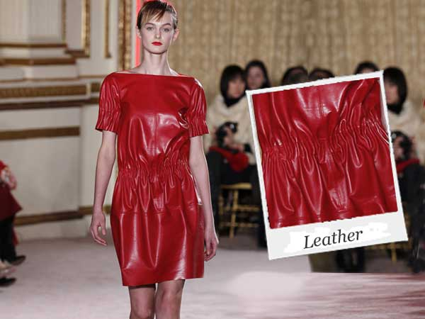 Thakoon Leather Red Dress-2012