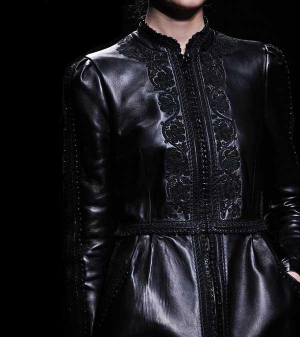 Valentino Leather Dress Black