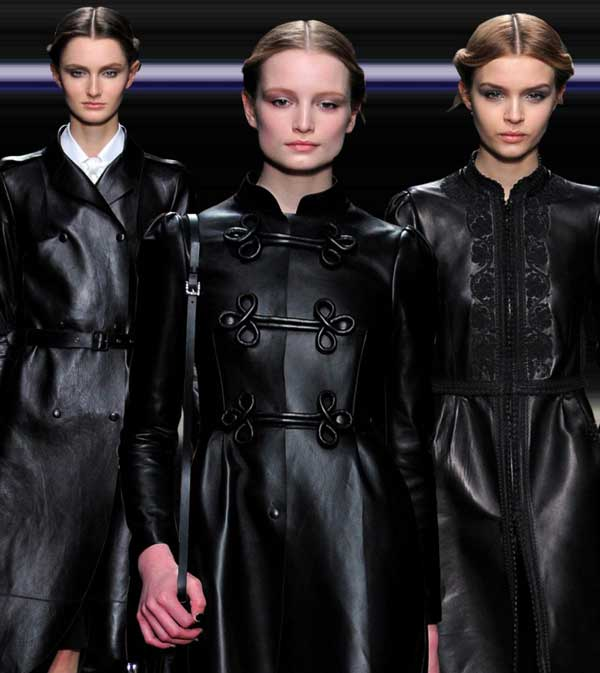 Valentino Leather Dress BLack and jackets