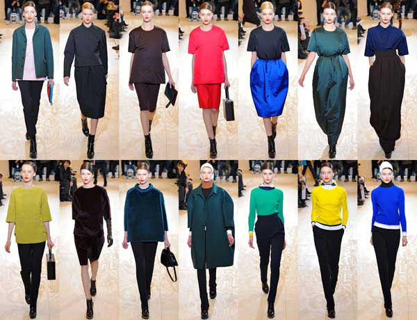 1960s fashion trend Jil Sander Fall Winter 2012