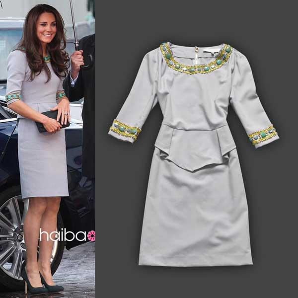 kate-middleton-2012-audrey-hepburn-vintage-dress