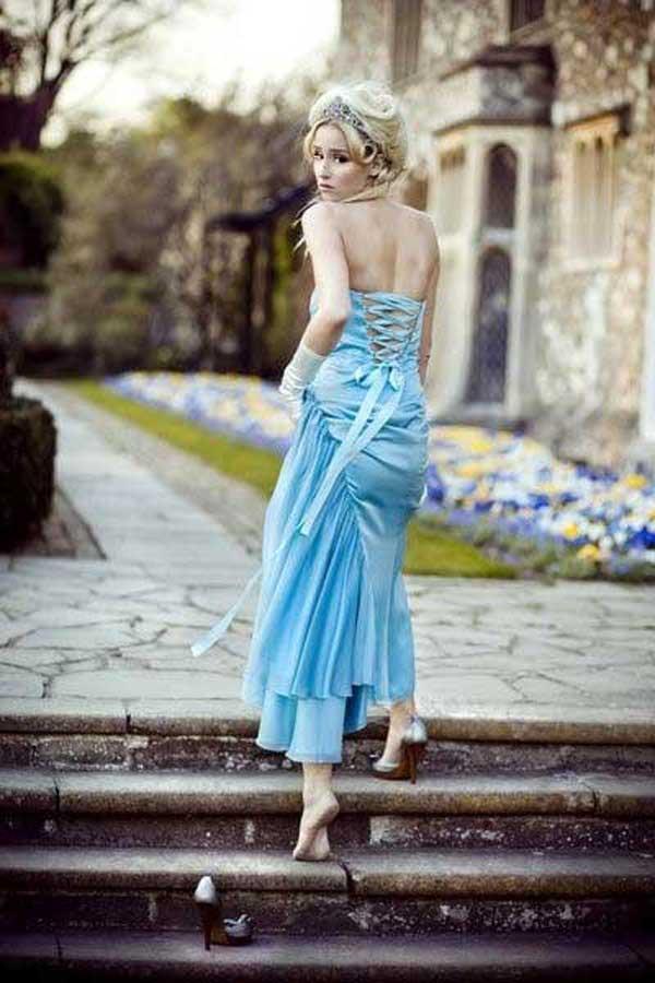 Blue wedding dress 2013