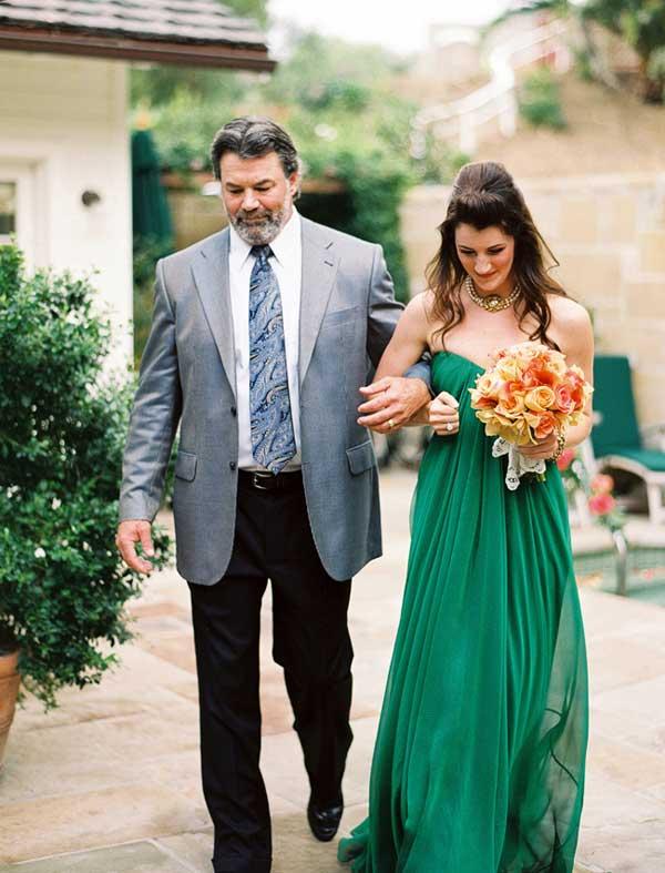 green wedding dress 2013