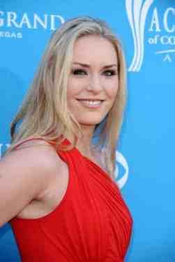 Lindsey Vonn showing her side profile