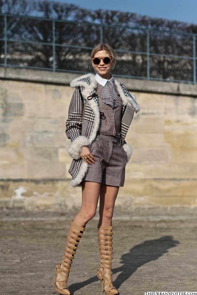 tweed jackets and shorts for women 2013