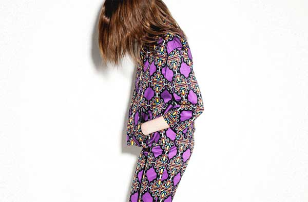 Bimba and Lola - purple patterns suits for women 2013