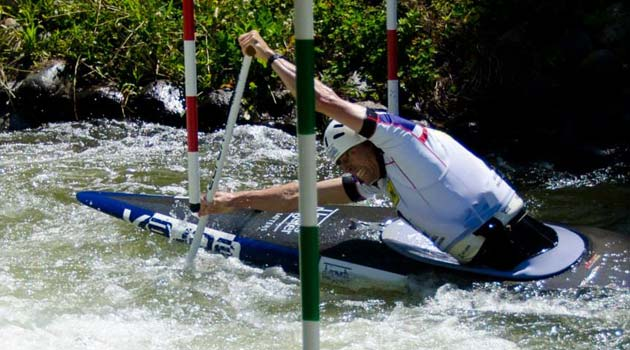 Richard John Hounslow - British Slalom Canoeist - Competing in La Seu D'urgell in Spain