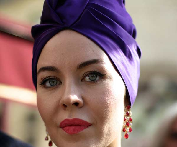The Urban Spotter - Purple inspired swimming cap turban