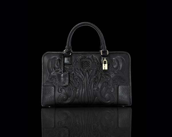 LOEWE Madrid - Leather lace dresses & Coat black bag