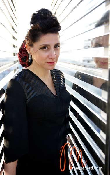 Gracie Opulanza - Fancier Feathers Head peice London Fashion Week 2014 (7)