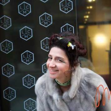Gracie Opulanza - Wearing Bimba & Lola Dress, Dr Martins Red Boots, Vintage Mink Jakcet and Styled by Zoe Della Rocca (4)