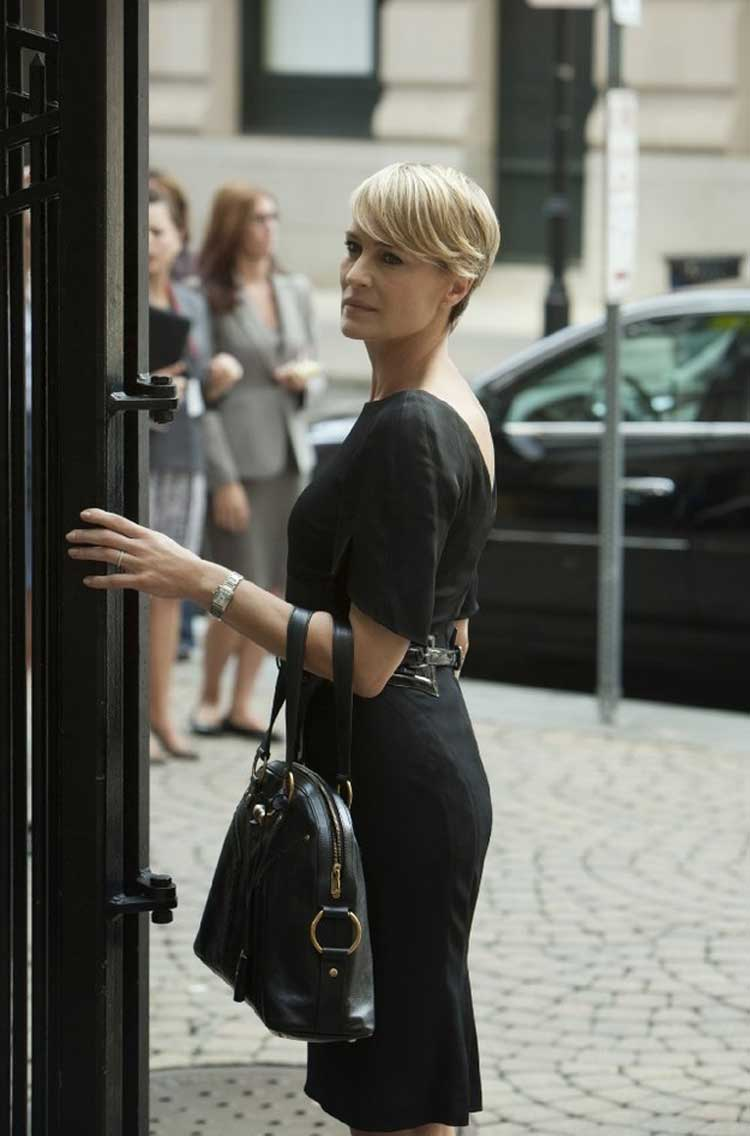 Robin Wright plays Claire Underwood - First Lady in House of Cards.