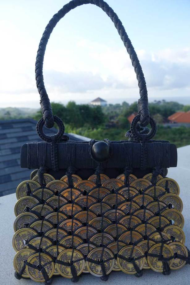 Bali coin metal bespoke fabric purse bag gracie opulanza (1)