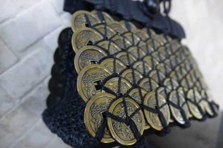 Bali coin metal bespoke fabric purse bag gracie opulanza (3)