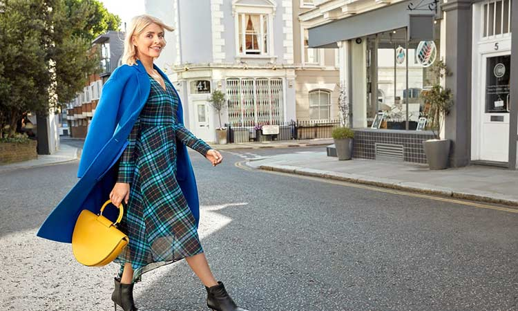 Holly Willoughby Marks And Spencer Blue Overcoat