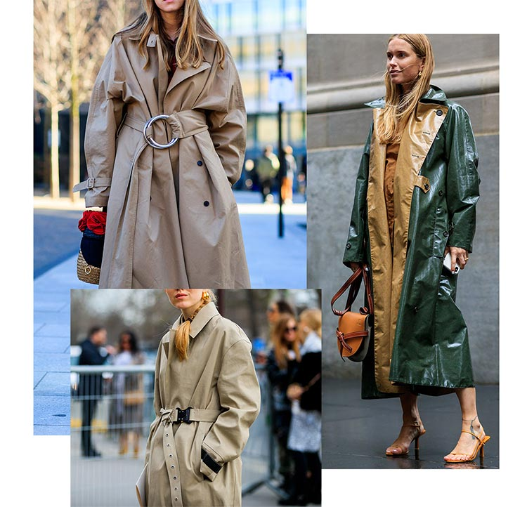 Trench coats for women Burberry Acne Studios