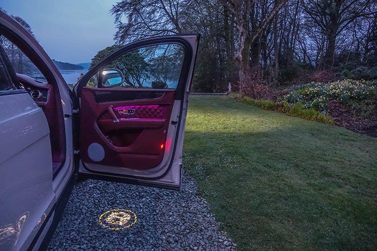Bentley Bentayga SUV V8 Storrs Hall Lake District Mood Lighting