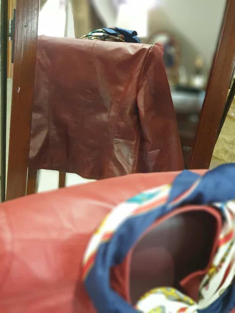 The Jacket Maker Review - Stacy Spice Red Leather Biker Jacket